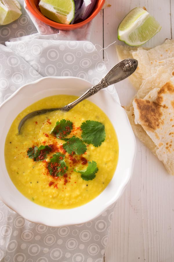bowl of gujarati moong dal