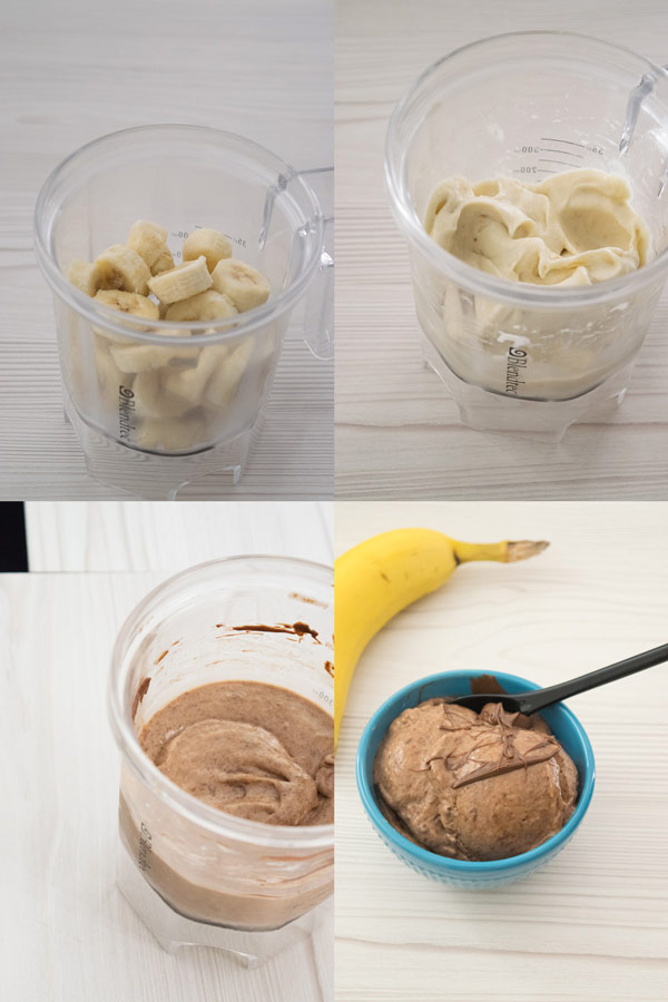 making no fuss banana nutella icecream