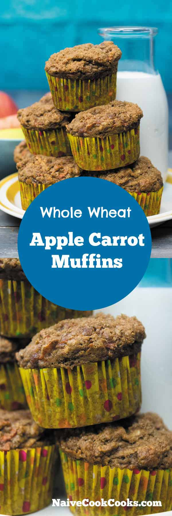 Carrot Apple Muffins for breakfast