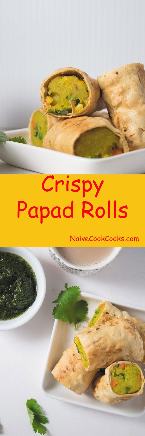Crispy papad rolls 1