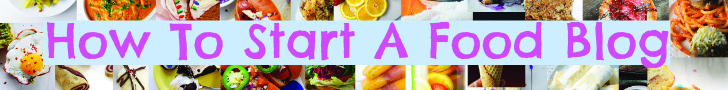 How To Start A Food Blog Long Banner
