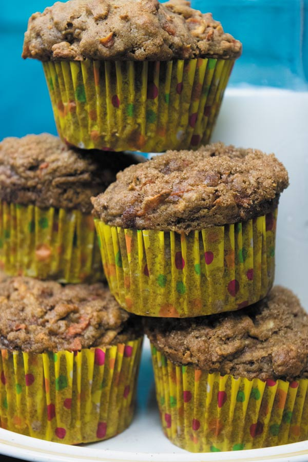 carrot apple whole wheat muffins