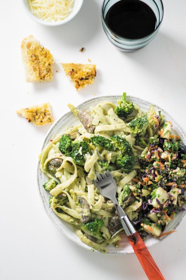 spinach alfredo sauce