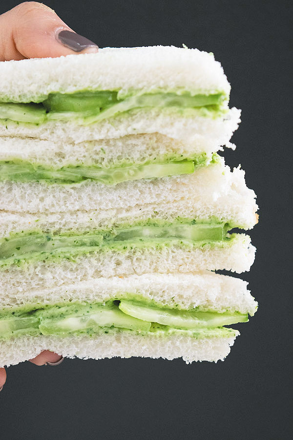 tea time cucumber sandwich ready