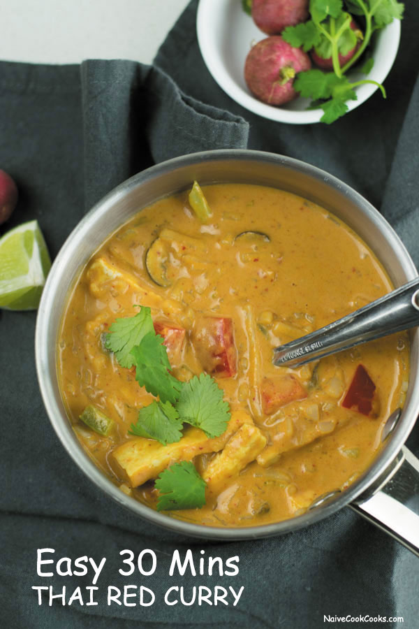Easy thai red curry recipe best ever restaurant style red curry creamy pot of thai red curry 2 forumfinder