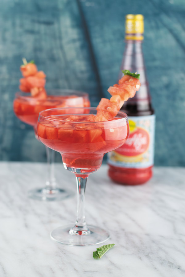 watermelon rose coolers for summer drink