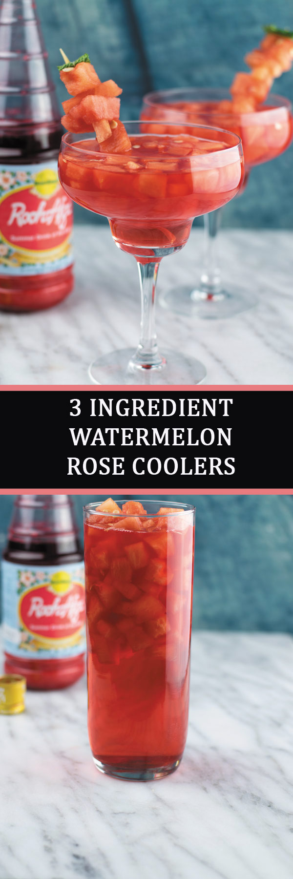 Watermelon Rose Coolers | NaiveCookCooks.com