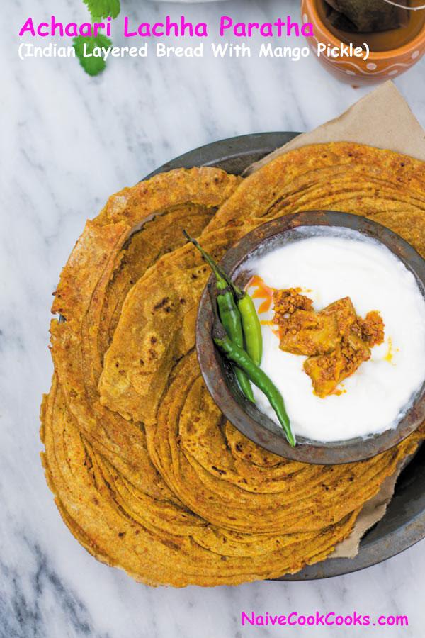 Achaari Lachha paratha ready title