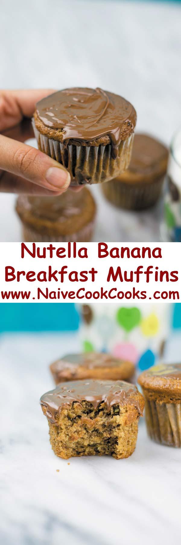Nutella Banana Muffins Part long pin