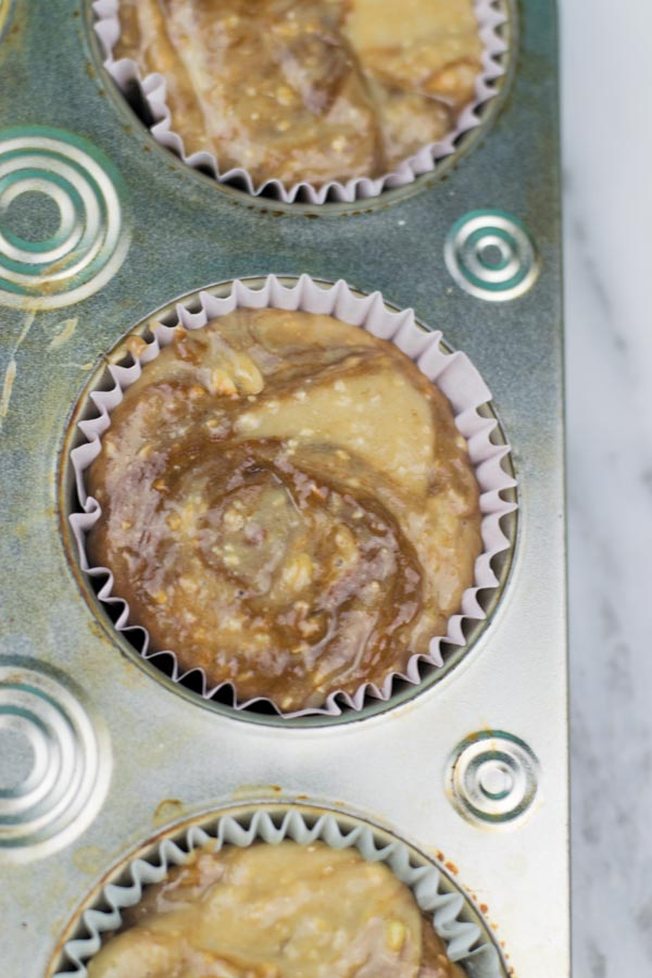 Nutella Banana breakfast muffins ready to cook