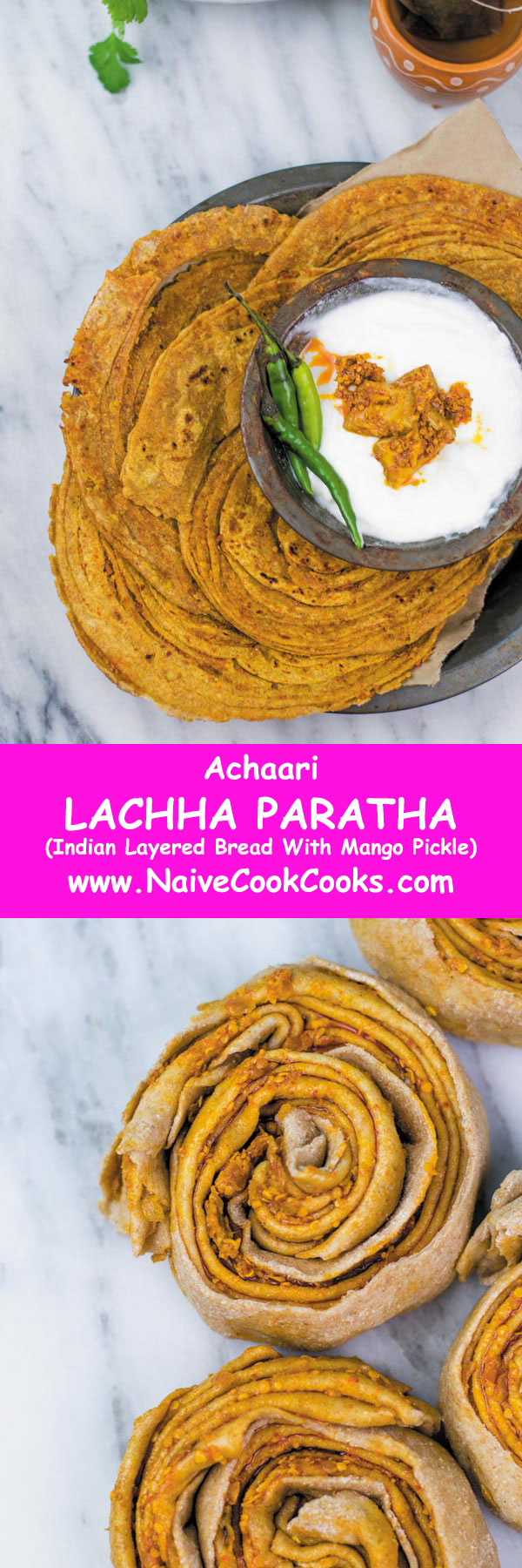 achaari lachha paratha for pinterest