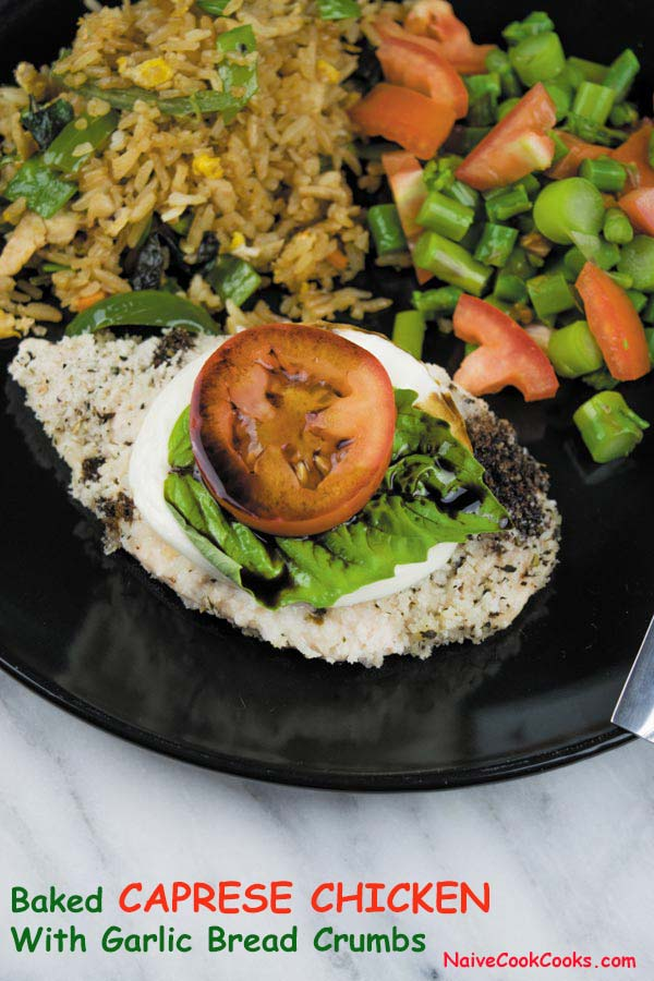 baked caprese chicken with garlic bread crumbs1