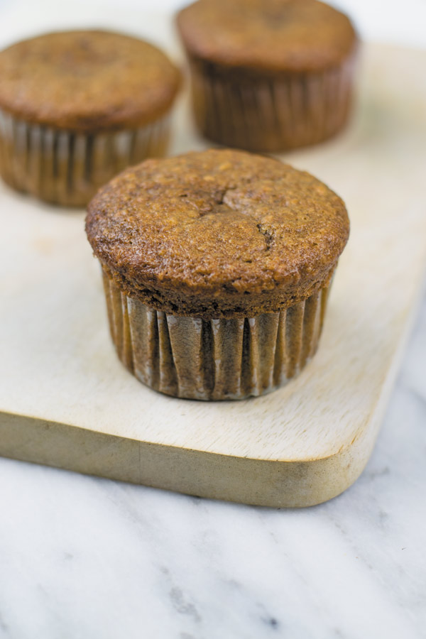 baked nutella banana breakfast muffins