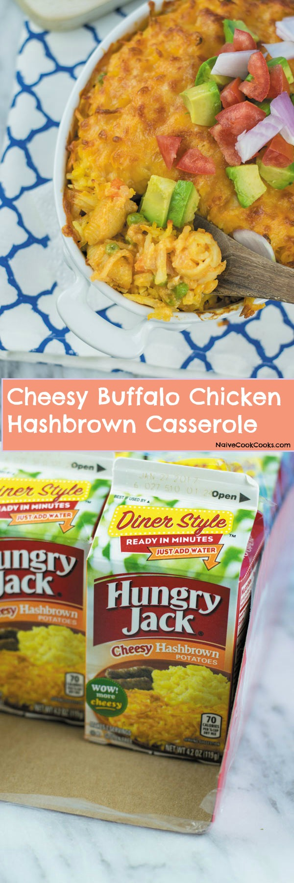 cheesy buffalo chicken hashbrown casserole 2