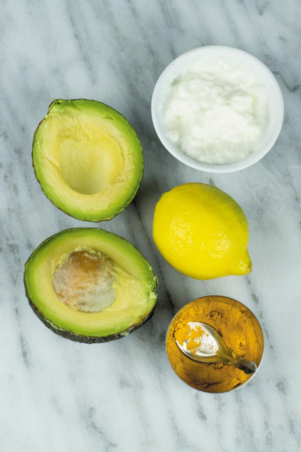 ingredients for avocado face mask