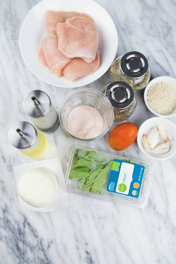 ingredients for baked caprese chicken