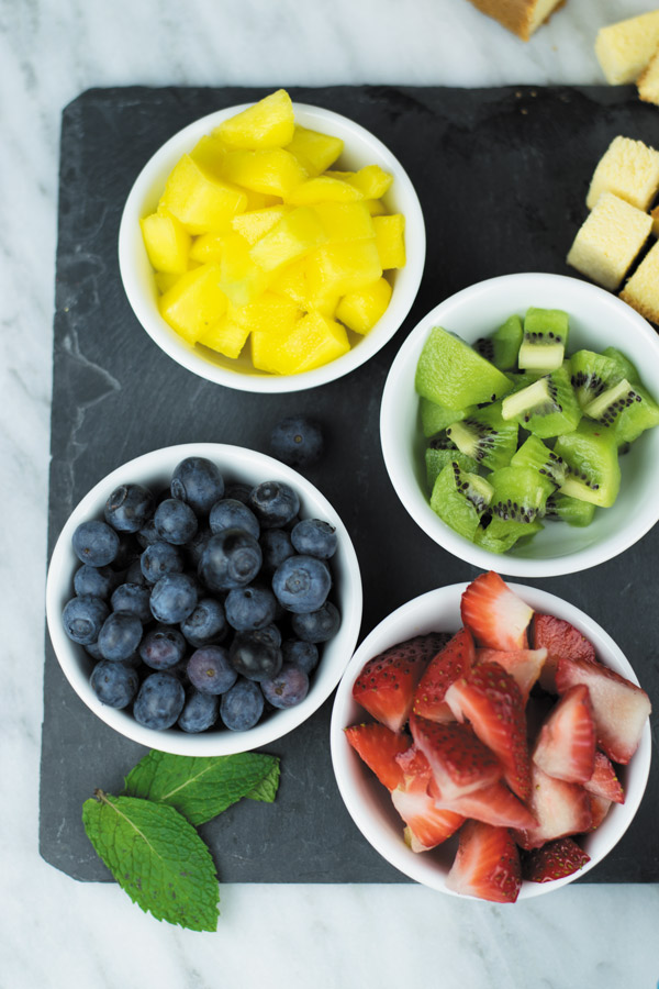 summer fruits for trifle