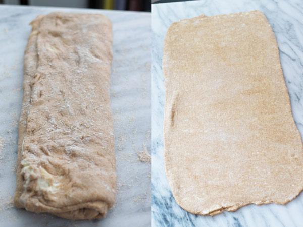 dough for whole wheat croissant