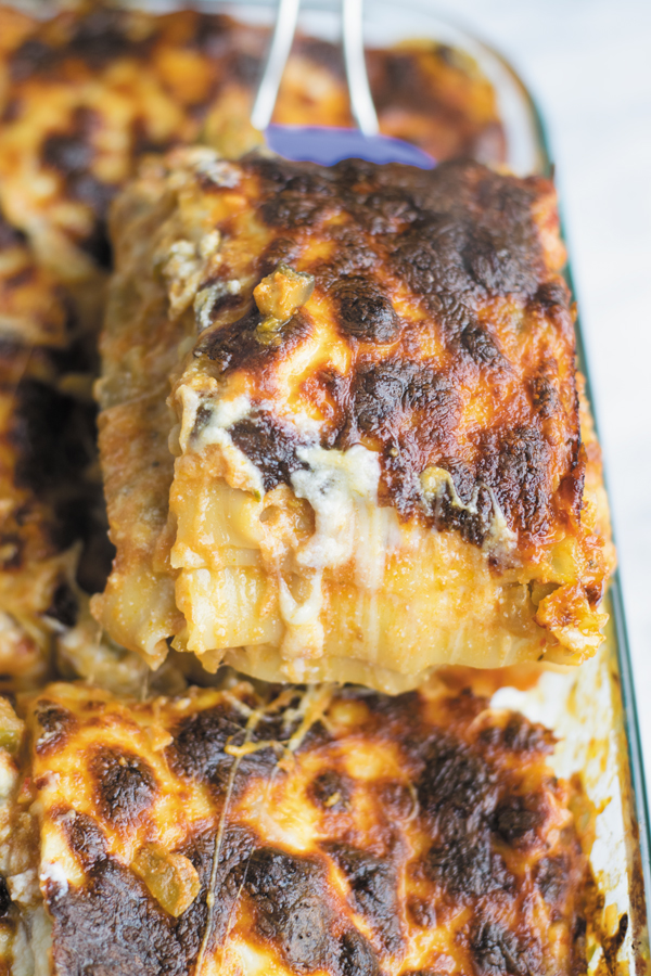 easy vegetarian lasagna ready to eat