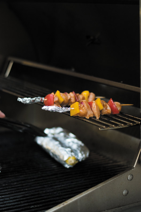 grilling bbq grilled chicken skewers