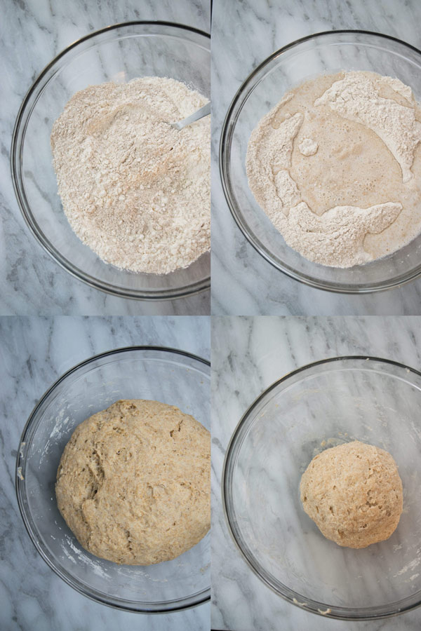 steps for making dough for homemade paneer garlic naan