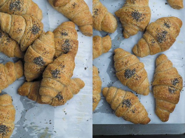 whole wheat croissant baked