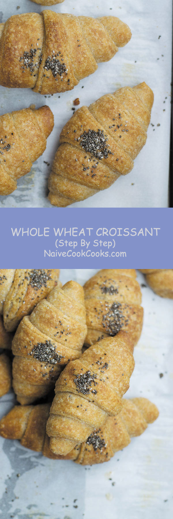 whole wheat croissant long pin
