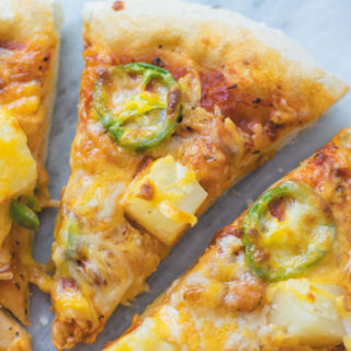 Veggie Hawaiian Pizza