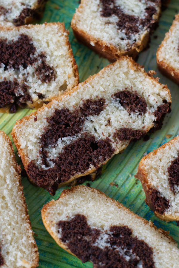 easy moist chocolate marble cake
