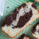 easy moist chocolate marble cake ready