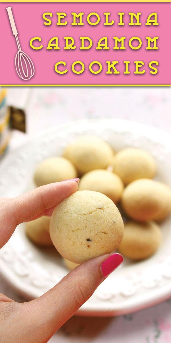 semolina cardamom cookies pinterest