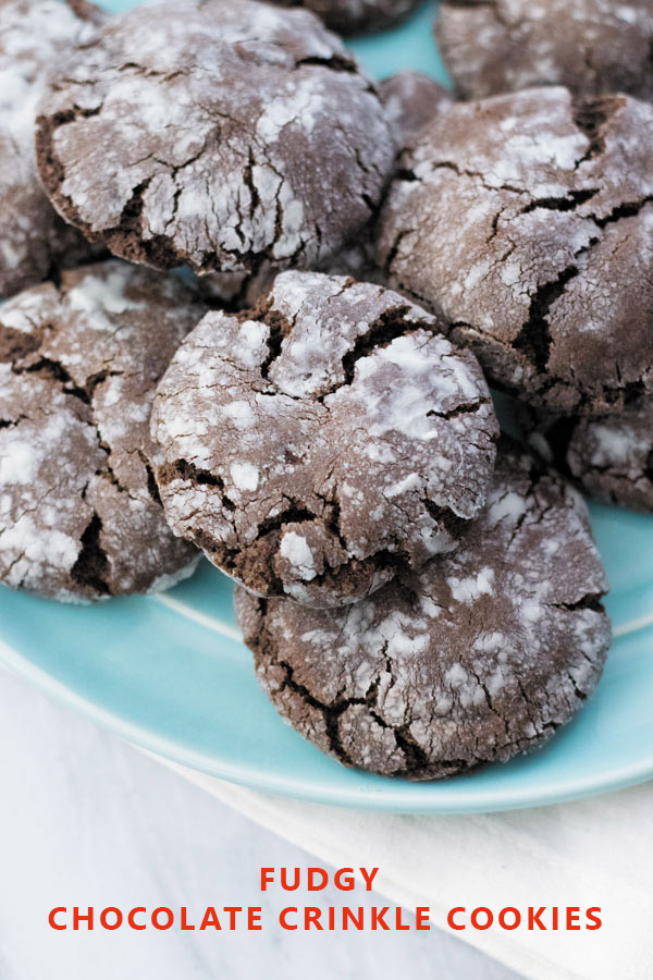 Fudgy Chocolate Crinkle Cookies - Perfect cookies for tea time, these ...
