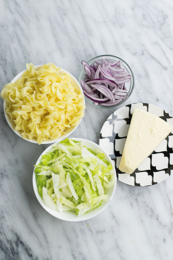 Haluski-Stir-Fried-Cabbage-&-Noodles-ingredients