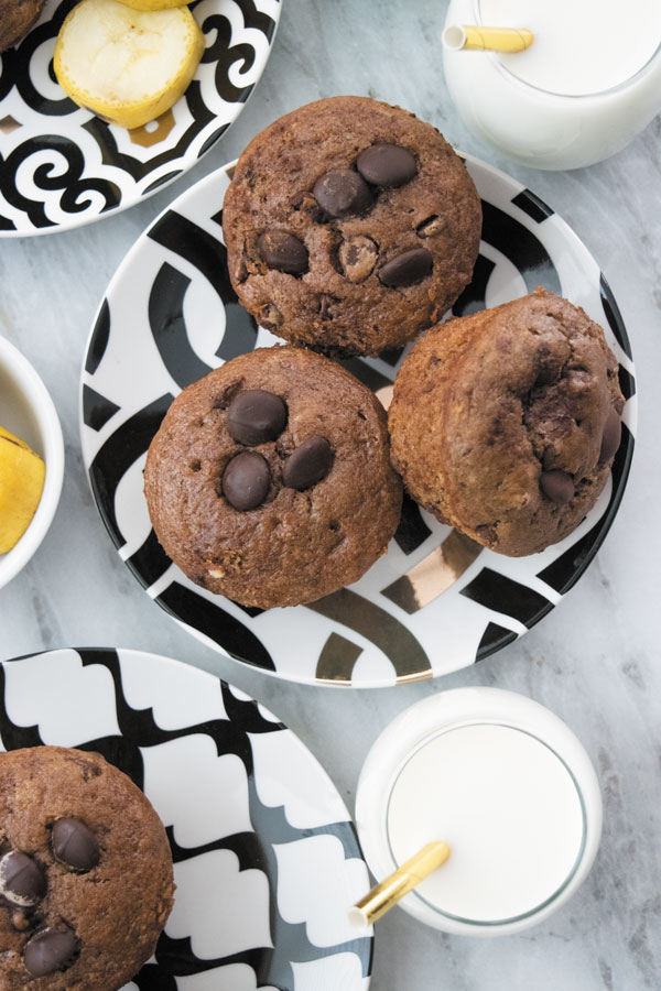 Chocolate Banana Muffins - these Eggfree, Butterfree and dairyfree muffins are the best banana chocolate muffins out there! No FUNNY ingredients!!
