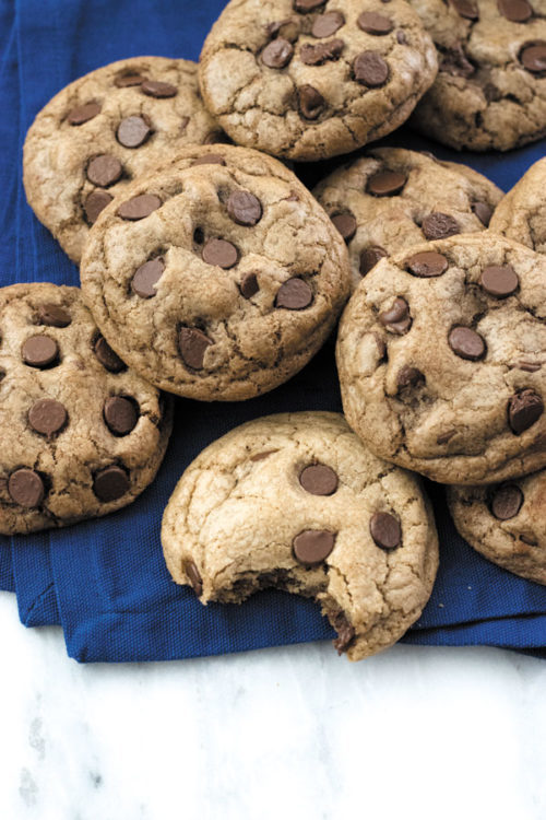 Double Chocolate Chip Cookies - THICK & CHEWY, extra Chocolatey, these cookies are LOVED by all ages! Simple to make, PERFECT to keep a batch for sudden sweet cravings! Great for gifts too!