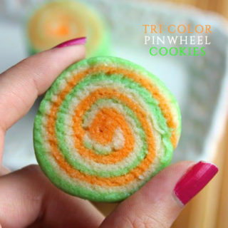Tri color Pinwheel Cookies- Ceelebrate in style with these easy buttery pinwheel cookies!
