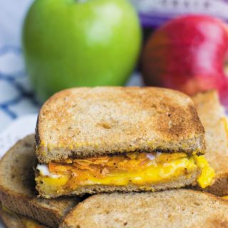 Nacho Chips Breakfast Sandwich - Simple 4 Ingredient breakfast sandwich, nacho chips make simple egg & cheese sandwich hard to resist! These are so POPULAR at my place!