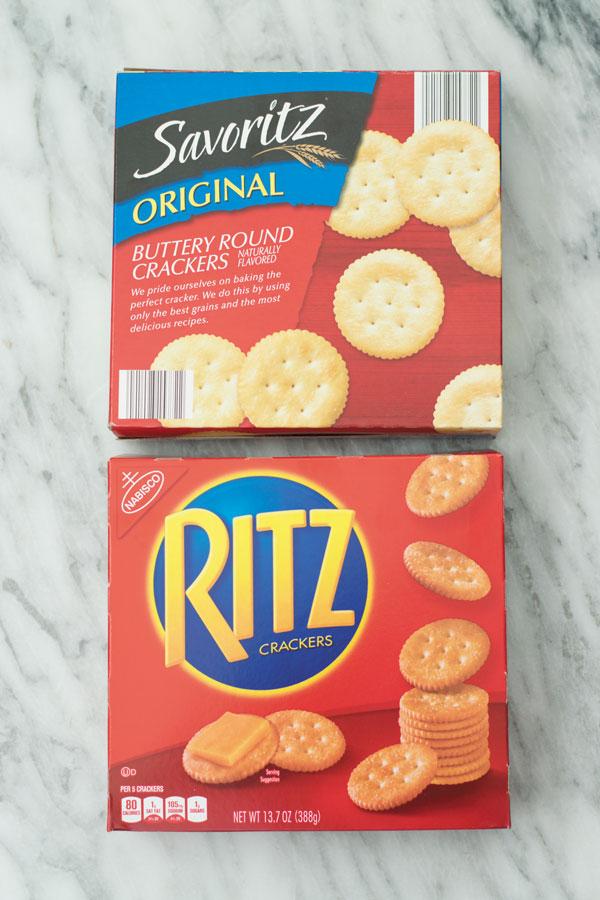 Comparing two brands of crackers for making baked brie with orange cranberry sauce.