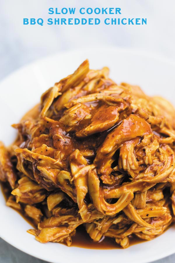 Slow Cooker Bbq Shredded Chicken Naive Cook Cooks