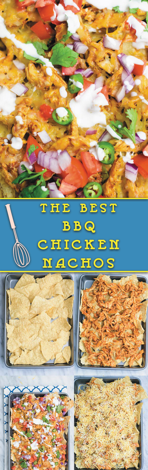 The Best BBQ Chicken Nachos - no need to go to restaurant and pay when you make restaurant quality BBQ chicken nachos at home with fraction of the cost!! And with all the fixins! These are always very Popular at my place.