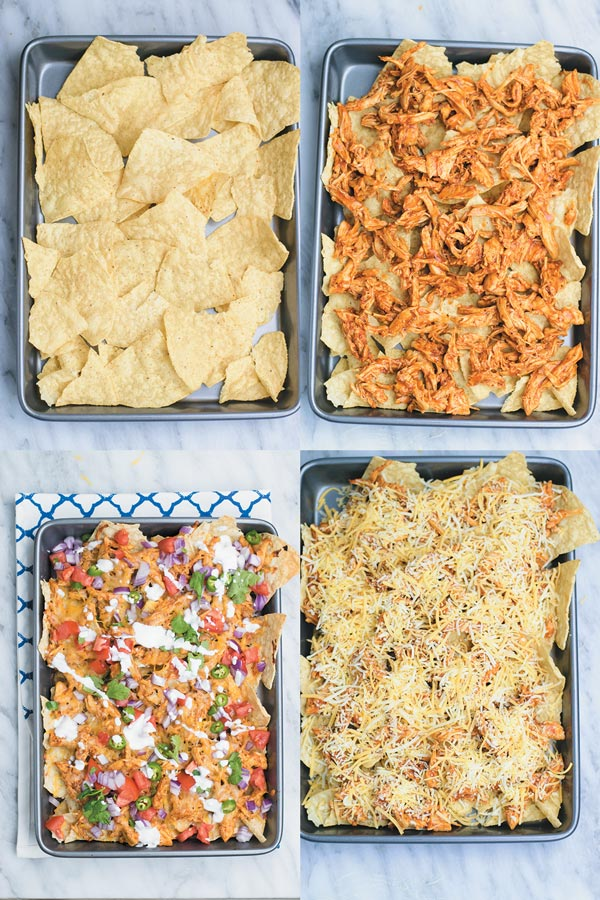 The Best BBQ Chicken Nachos - no need to go to restaurant and pay when you make restaurant quality BBQ chicken nachos at home with fraction of the cost!! And with all the fixins! A MUST for movie nights!