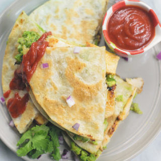 30 Mins Ranch Chicken & Guacamole Quesadilla
