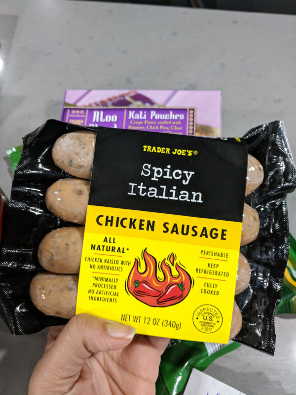my favorite trader joes products chicken sausage