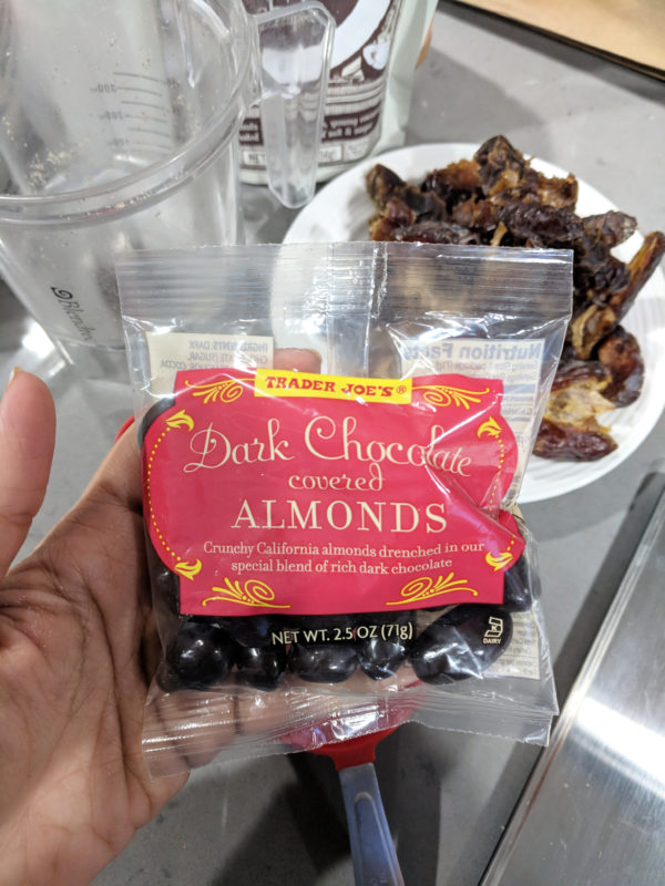 my favorite trader joes products chocolate covered almonds