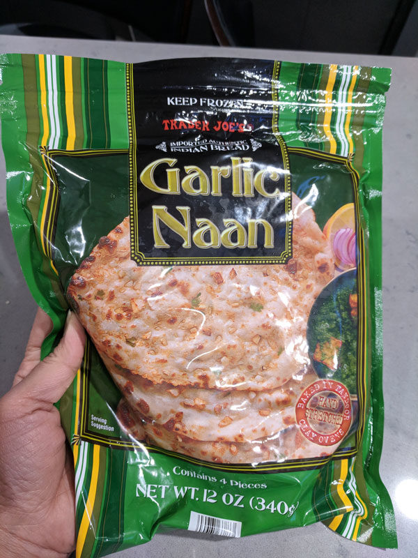 my favorite trader joes products garlic naan
