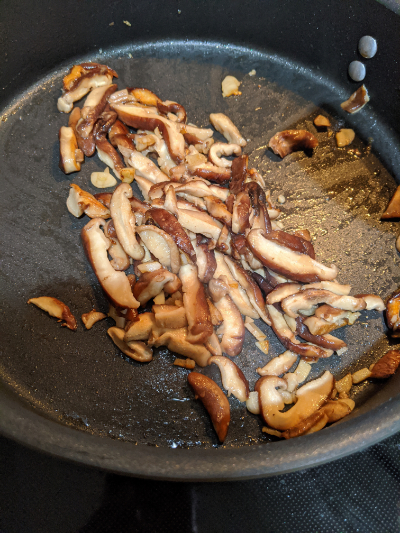 mushrooms cooked down