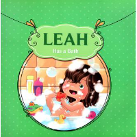 leah has a bath