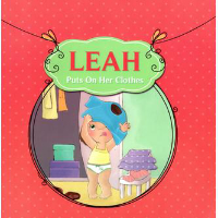 leah puts on her clothes