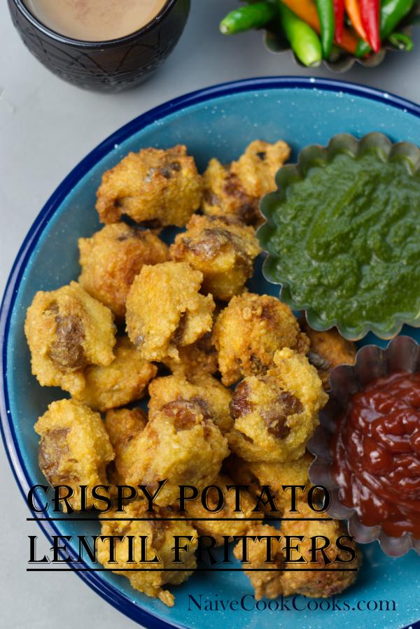 crispy potato lentil fritters ready aloo dal pakodaAF