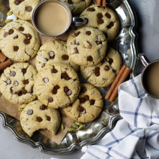 masala chai chocolate chip cookies ready